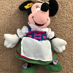 "Disney Minnie Mouse 8"" Beanie German Plush - New"